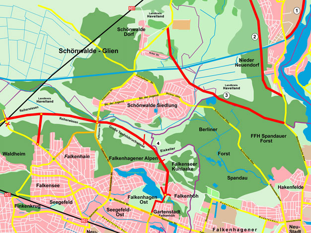 Trassen Landesstraßenbedarfsplan Brandenburg